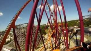Raging Bull POV Roller Coaster Front Seat Six Flags Great America B&M Hyper Coaster On-Ride