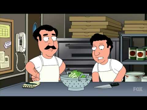 Family Guy Makes Fun of How Salad Is Made at Every Single Pizza