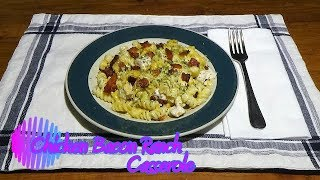 Chicken Bacon Ranch Pasta 1 lb rotini pasta 1/2 lb bacon, diced 1 lb boneless, skinless chicken breasts, cooked & diced 1 Tbsp...