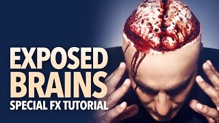 Exposed brain halloween makeup tutorial