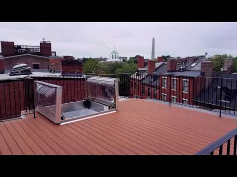 GoPro Timelapse of a Roof Deck on Harvard St, Charlestown - Boston.