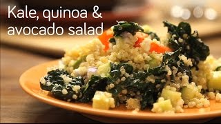 Kale, avocado & quinoa salad