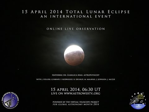 live - This is the full podcast of the live event covering the 15 April 2014 total lunar eclipse. The team who made possible this: astrophotographer: Joaquin Fabreg...
