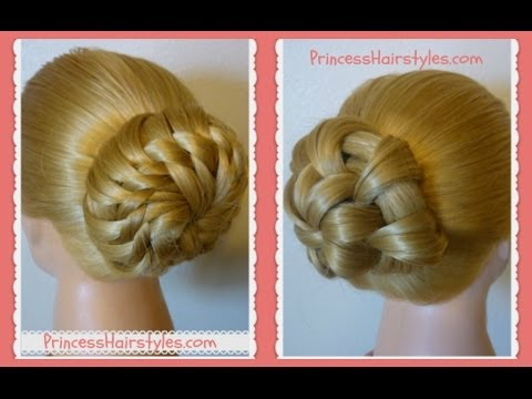 "Prom Hairstyles ""Star Flower Bun"" Updo Tutorials"