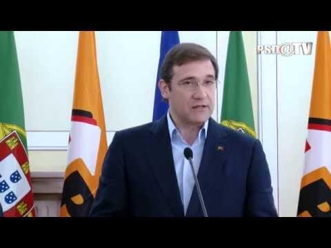 Pedro Passos Coelho na Sede Nacional com Jean-Claude Juncker