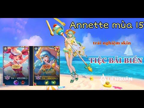 Annette mùa 15| Trải nghiệm skin Annette Tiệc bãi biển trong sổ sứ mệnh mùa 15| Liên quân mobile