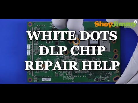 Replacing a DLP TV Chip - White Dots Issue - How to Fix Mitsubishi DLP TVs