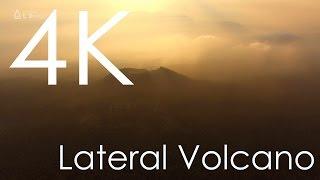 4K空撮/ 富士の夕暮れと二ツ山