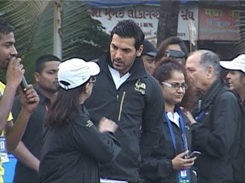 John Abraham And Rahul bose At Mumbai Marathon