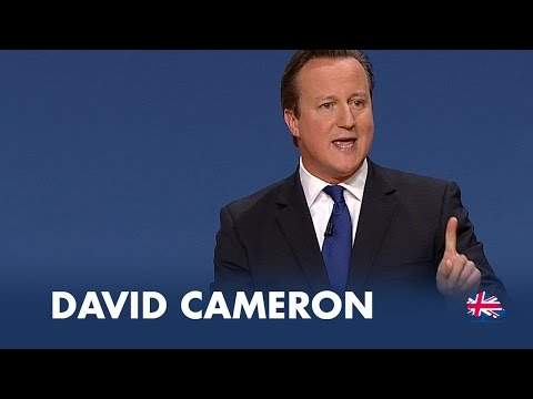 Conference - Prime Minister David Cameron's keynote speech at Conservative Party Conference 2014.