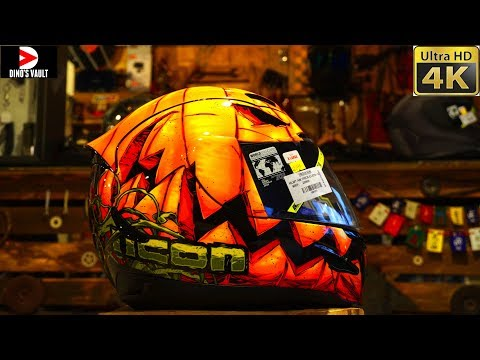 Halloween Helmet!! Icon Airmada Trick Or Street Review 4K #Helmets@Dinos