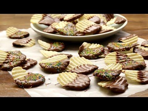 patatine ricoperte al cioccolato - ricetta