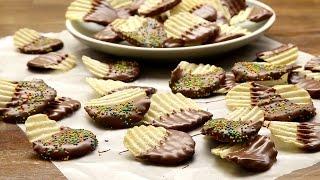 Patatine ricoperte di cioccolato