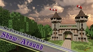 Minecraft, Detailed Castle Gatehouse, 1080p HD / By Jeracraft