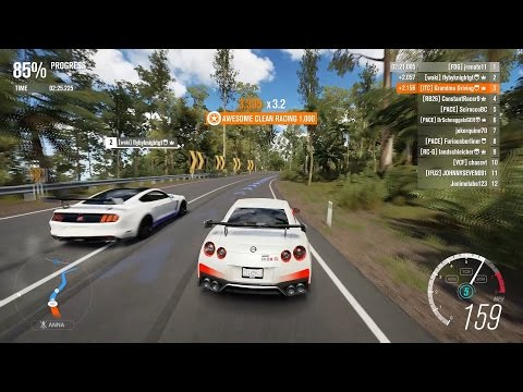 Forza Horizon 3 PC - 2017 Nissan GT-R [S1 Class] Multiplayer Race Gameplay + Top 10 Rivals