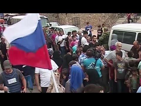 Συρία: Ρωσικά φορτηγά ανθρωπιστικής βοήθειας στο Χαλέπι