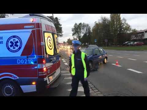 Wideo: Kolizja na Ustroniu w Lubinie