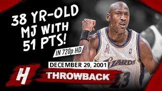 Video The Game OLD Michael Jordan SHUTS DOWN Critics! CRAZY Highlights vs Hornets 2001.12.29 - 51 Points! MP3, 3GP, MP4, WEBM, AVI, FLV Desember 2018