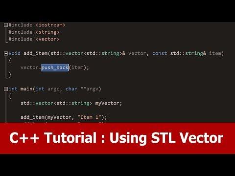 C++ Tutorial : Using the STL std::vector