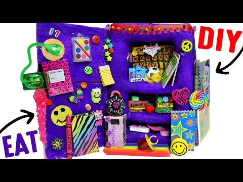 DIY Edible School Locker | EAT Locker Decor, Combination Lock, Books &  Back To School Supplies! (видео)