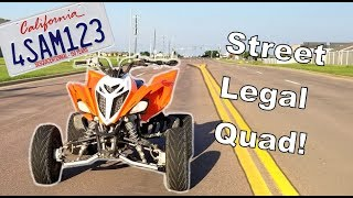 8. Street Legal Quad! | Raptor 700