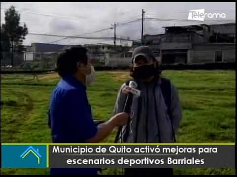 Municipio de Quito activó mejoras para escenarios deportivos barriales