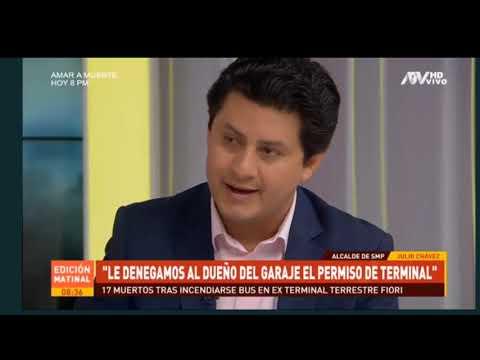 JULIO CHÁVEZ ENTREVISTA DE MILAGROS LEIVA - ATV NOTICIAS EDICION MATINAL