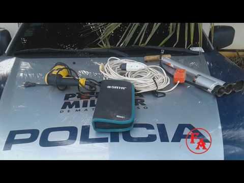 Vitimas recuperando seus objetos na DP de Porto Esperidião