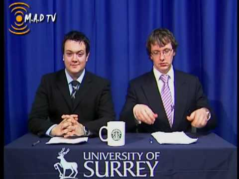 MAD TV University Of Surrey Student News Episode 2 Bloopers