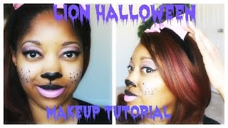 Lion Halloween Makeup |GRWM - YouTube