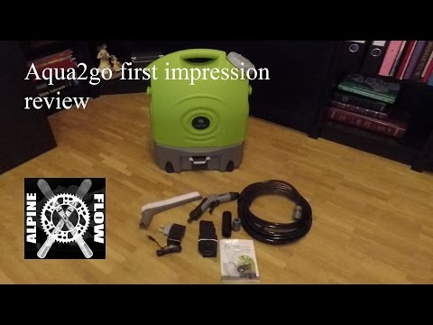 First impression review of the Aqua2go Portable Pressure Washer