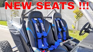 8. 2018 POLARIS RZR XP TURBO S PRP SEATS AND BELTS!!!