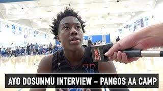 Ayo Dosunmu Interview - Pangos All - American Camp
