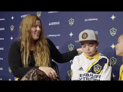 Video: 10-year-old bone marrow recipient surprised by his donor at halftime of the LA Galaxy game