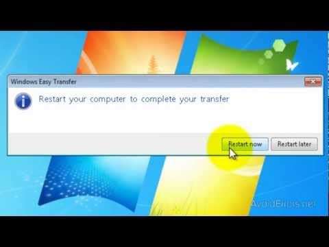 Transfer files and settings from XP to Windows 7