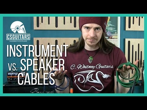 Instrument vs Speaker Cables: What's The Difference?
