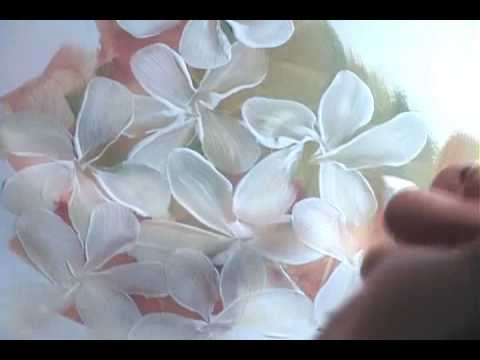 flower painting - In this first of two videos, I'll show you how to paint a simple flower cluster with five-petal leaves.