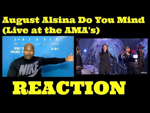 August Alsina-Do You Mind (Live at the AMA's) -REACTION