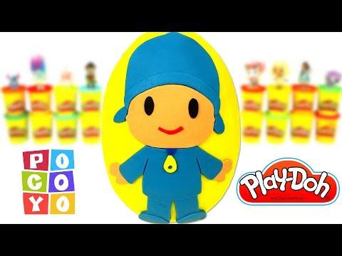 Pocoyo português Brasil - Ovo Surpresa Gigante do Pocoyo em Português Brasil de Massinha Play Doh