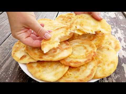 Сметут со стола за минуту Быстрые ЛЕПЕШКИ за 10 минут на сковороде - DomaVideo.Ru