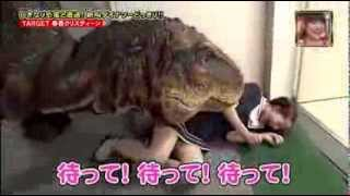 Hilarious Japanese Dinosaur Prank: Japanese Man Terrified By 'Dinosaur'