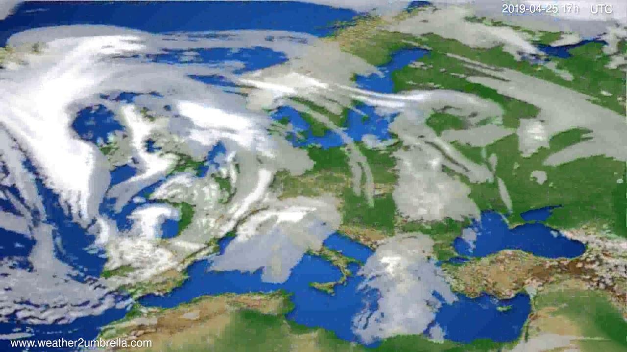 Cloud forecast Europe // modelrun: 00h UTC 2019-04-24