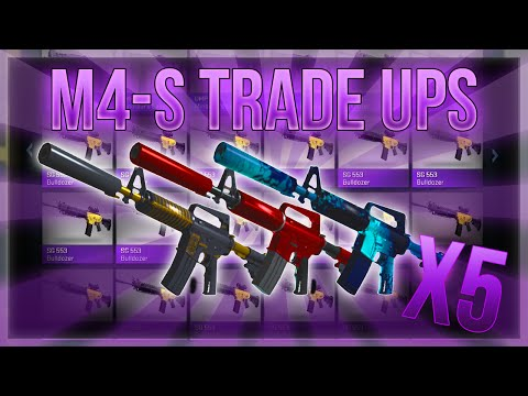 HIGH TIER M4A1-S TRADE UPS (5 M4'S IN A ROW)