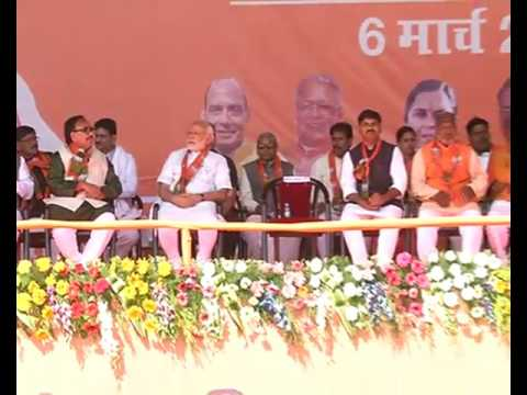 PM Shri Narendra Modi addresses public meeting in Khushipur, Uttar Pradesh : 06.03.2017