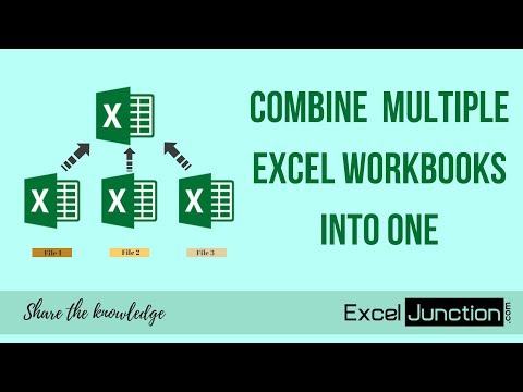 COMBINE Multiple Excel WORKBOOKS into One | ExcelJunction.com