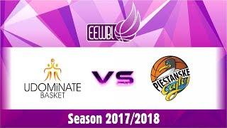 Udominate Basket – Piestanske Cajky – EEWBL 14.01.18. Salaspils
