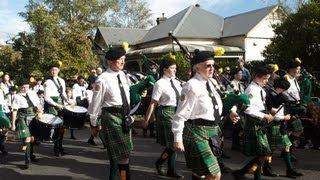 Bundanoon Australia  city photos : Scottish Highland Gathering: Brigadoon Parade, Bundanoon, NSW, Australia