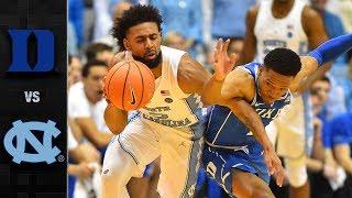 Duke vs. North Carolina Basketball Highlights (2017-18)