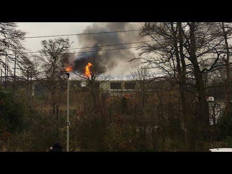 Chester/Großbritannien: Der Zoo steht in Flammen - das Monsoon Forest Habitat ist abgebrannt