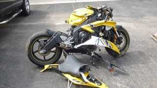 10. Wrecked 2006 Yamaha YZF R6 50th Anniversary Edition Parting Out YZFR6 06